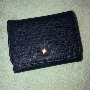 Navy blue mini wallet